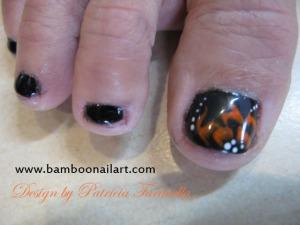 NA sur noir-OS fleur orange fluo