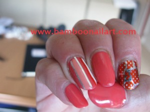 DECO STRIPPING + FOILS sur fonds corail 1