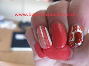 DECO STRIPPING + FOILS sur fonds corail 2