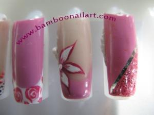 vernis rose bonbon
